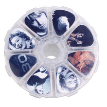 Load image into Gallery viewer, BassGears Celebrities 50pcs Thematic Bass Guitar Picks with Box
