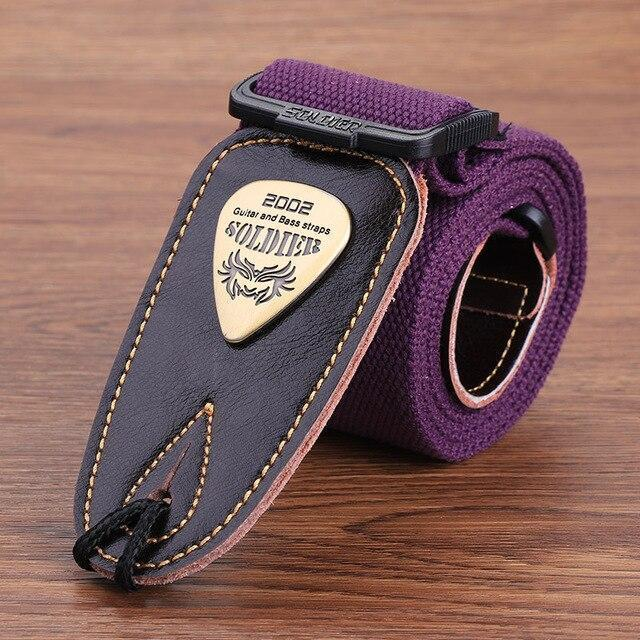 BassGears CST-1303Purple  Soldier Strap Leather
