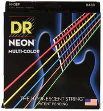 DR NEON Multi Color bass guitar strings