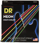 DR NEON Multi Color bass guitar strings - BassGears