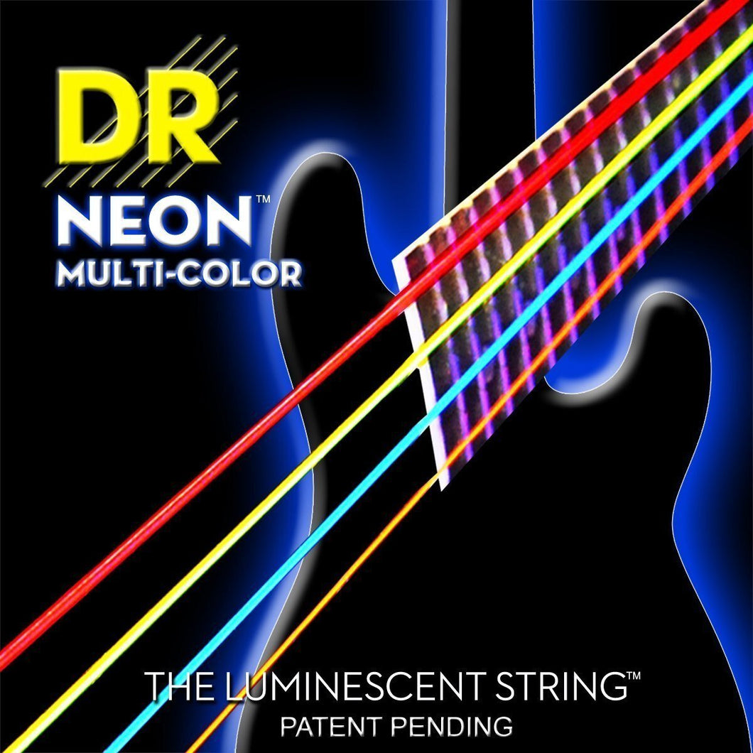 BassGears DR NEON Multi Color bass guitar strings
