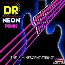BassGears DR NEON Pink bass guitar strings