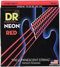 Load image into Gallery viewer, BassGears DR NEON Red bass guitar strings
