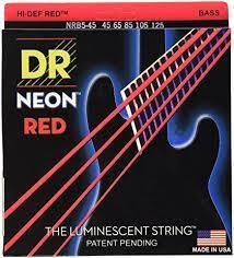 DR NEON Red bass guitar strings