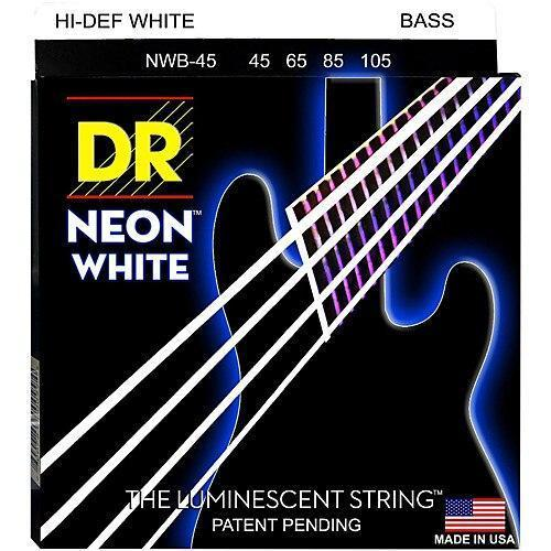 BassGears DR NEON White bass guitar strings
