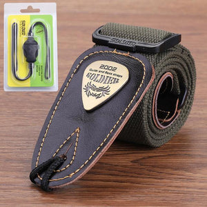 BassGears Green 02  Soldier Strap Leather