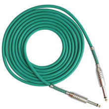 Load image into Gallery viewer, BassGears Green 6.5mm Jack Audio Cable Professional Noise Free 3 Meters/10ft