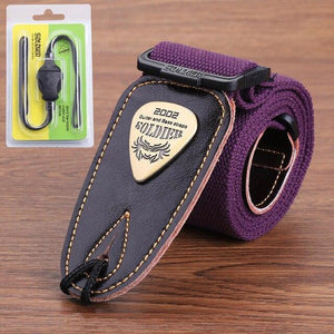 BassGears Purple 02  Soldier Strap Leather