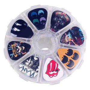BassGears Rock Band 50pcs Thematic Bass Guitar Picks with Box