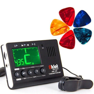 BassGears Tuner with picks / Chine Aklot Guitar Tuner Metronome 3 in 1