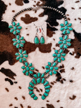 Load image into Gallery viewer, Wild West - Statement turquoise squash necklace + earrings