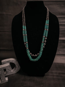 Indy's Navajo / Turquoise Bead Necklace