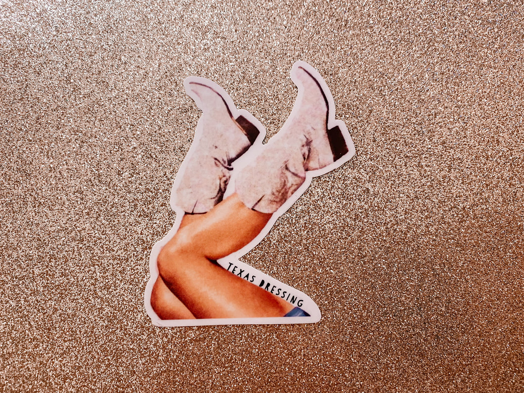 Boots in the air Sticker