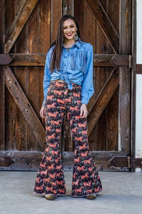 Rodeo Babe Denim Flare Bottoms