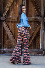 Load image into Gallery viewer, Rodeo Babe Denim Flare Bottoms