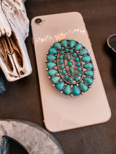Load image into Gallery viewer, Oval Turquoise Phone socket