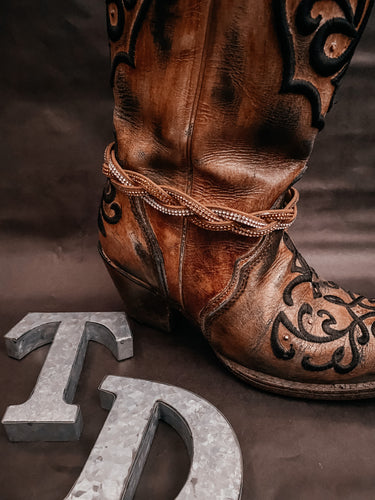Tan Braided Boot Accessory