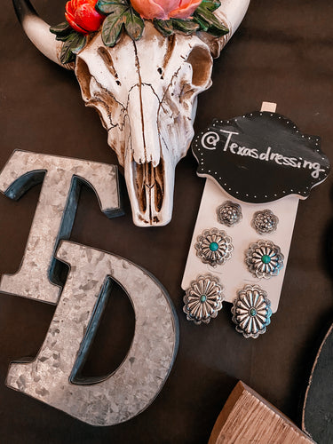 Concho Trio Earring set