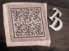 Load image into Gallery viewer, TD's Off White Cheetah Print Wild Rag