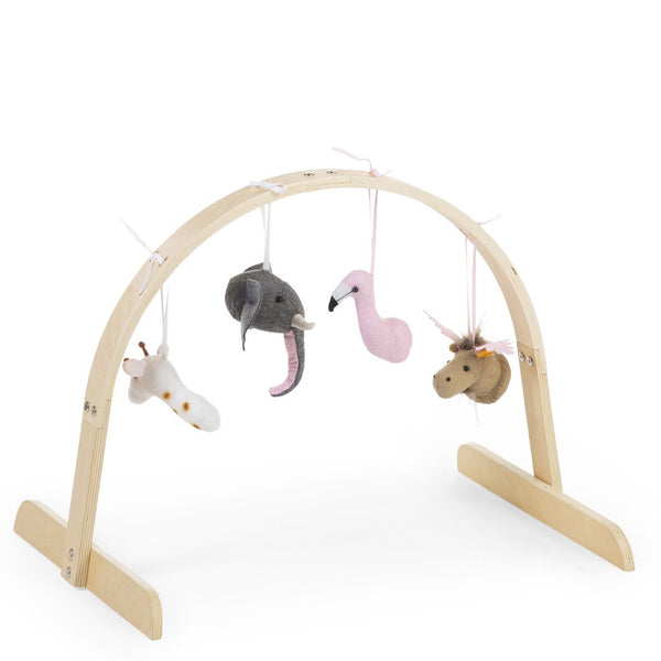 Childhome - Baby Gym Round + Gym Toys Set of 4