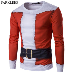 eb86d8c9d1ea 3D-Print Classic Christmas Long-Sleeved T-Shirt (19 Varieties ...