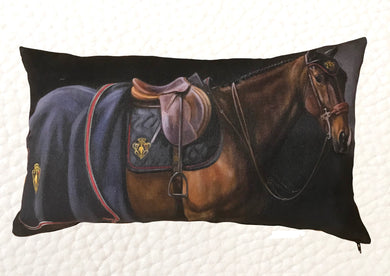 """Marque de Noblesse"" Pillow Cover by Janet Crawford"