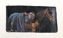 "Load image into Gallery viewer, Zip Clutch Purse , "" Marque de Noblesse"" by Janet Crawford"