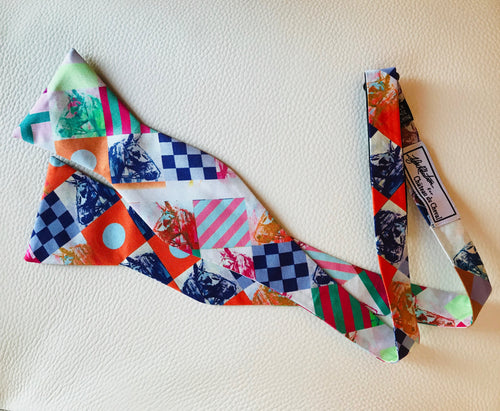 """ Nautical Yearling "" silk  Bow tie"