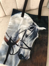 "Load image into Gallery viewer, Hindsight Tote "" le Cheval Blanc"" by Janet Crawford"