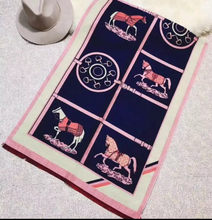 Load image into Gallery viewer, Cashmere Blend Equestrian Scarf - 5 colors