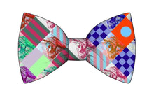 "Load image into Gallery viewer, "" Nautical Yearling "" silk  Bow tie"