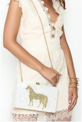 Lucite Mirrored Clutch
