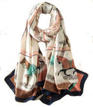 Load image into Gallery viewer, Oblong Equestrian Scarf