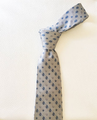 Woven Silk Tie with jockey silks