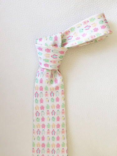 Water Color Jockey Silk Tie