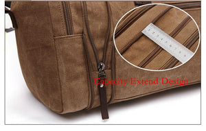 Large Capacity Men's Hand Luggage Canvas  Travel Duffel Bag