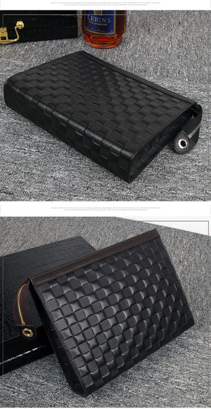 Men's Fashion Clutch Genuine Leather Business Envelope Bag handbag