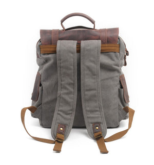 Men's Casual Canvas Vintage  Backpack Rucksack 4 Color Choices
