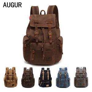Men's backpack vintage canvas backpack school bag men's travel bags large capaci