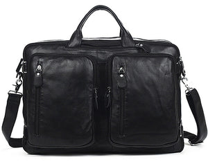 Fashion Multi-Function Full Grain Genuine Leather Travel Bag Men's Leather Lugga