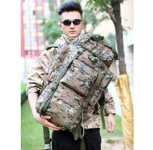 Backpack Outdoor Sports Bag Military Hiking Camping Waterproof Nylon Bag