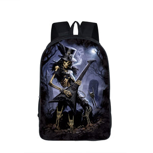 Comics Punisher Skull AND OTHERS Printed Backpack Teenager School Bag 19 Choices
