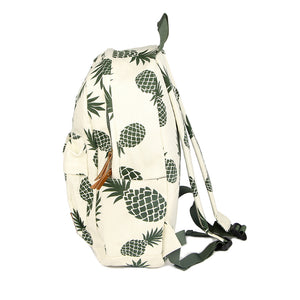 Women's Ladies Girls  Fruit Pineapple Printed Canvas Backpack