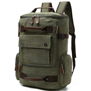 Men's Backpack 15 Inch Rucksack Canvas Backpack. 6 Colors