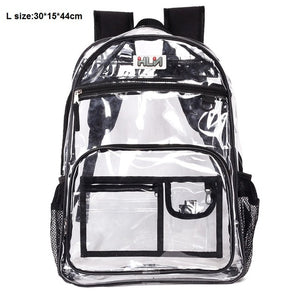 Transparent Safe Waterproof PVC School Beach Backpacks Bag Teenager Student Back
