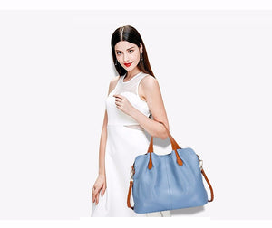 Women's genuine leather handbags crossbody bags bolsa feminina Tote. 5 Colors