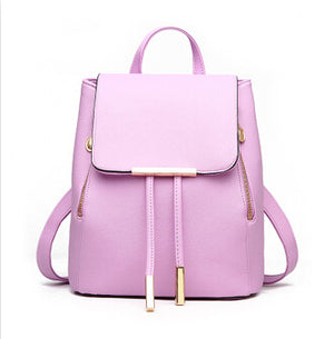 Dida Bear Pink / Other Colors Women's Backpack PU Leather School Bag Teenage