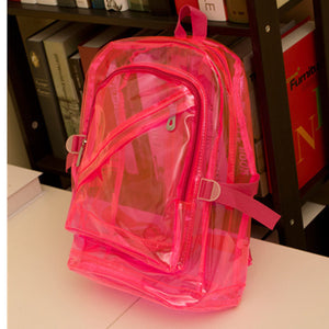 Girls Boys Transparent Candy Clear Backpack Plastic Student Bag School. 6 Colors