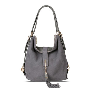 Nico Louise Women's Ladies Suede Split Leather Shoulder Bag Female