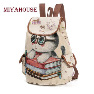 Girls Kids Kitty Cat. Drawstring Backpack School Bag - OTHER design choices